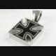 ROYAL KRONEN RING MIT BLACK STONE SILBERRING 925 ECHT SILBER / 453