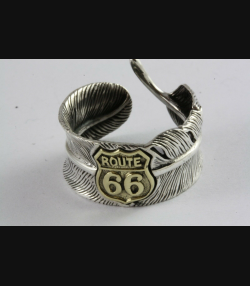 BIKER ROUTE 66 RING HERRENRING SIEGELRING SILBERRING 925 SILBER / 486