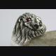 LÖWEN RING RASTA LÖWE LION ZIRKONIA STEINE SILBERRING 925 ECHT SILBER / 383