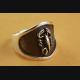 TOTENKOPFRING SKULL BIKER STRASS RING ECHT SILBER 925 SILBERRING / 080