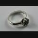 DESIGN BLACK ZIRKONIA STEIN DAMEN RING ECHT 925 SILBER SILBERRING / 650